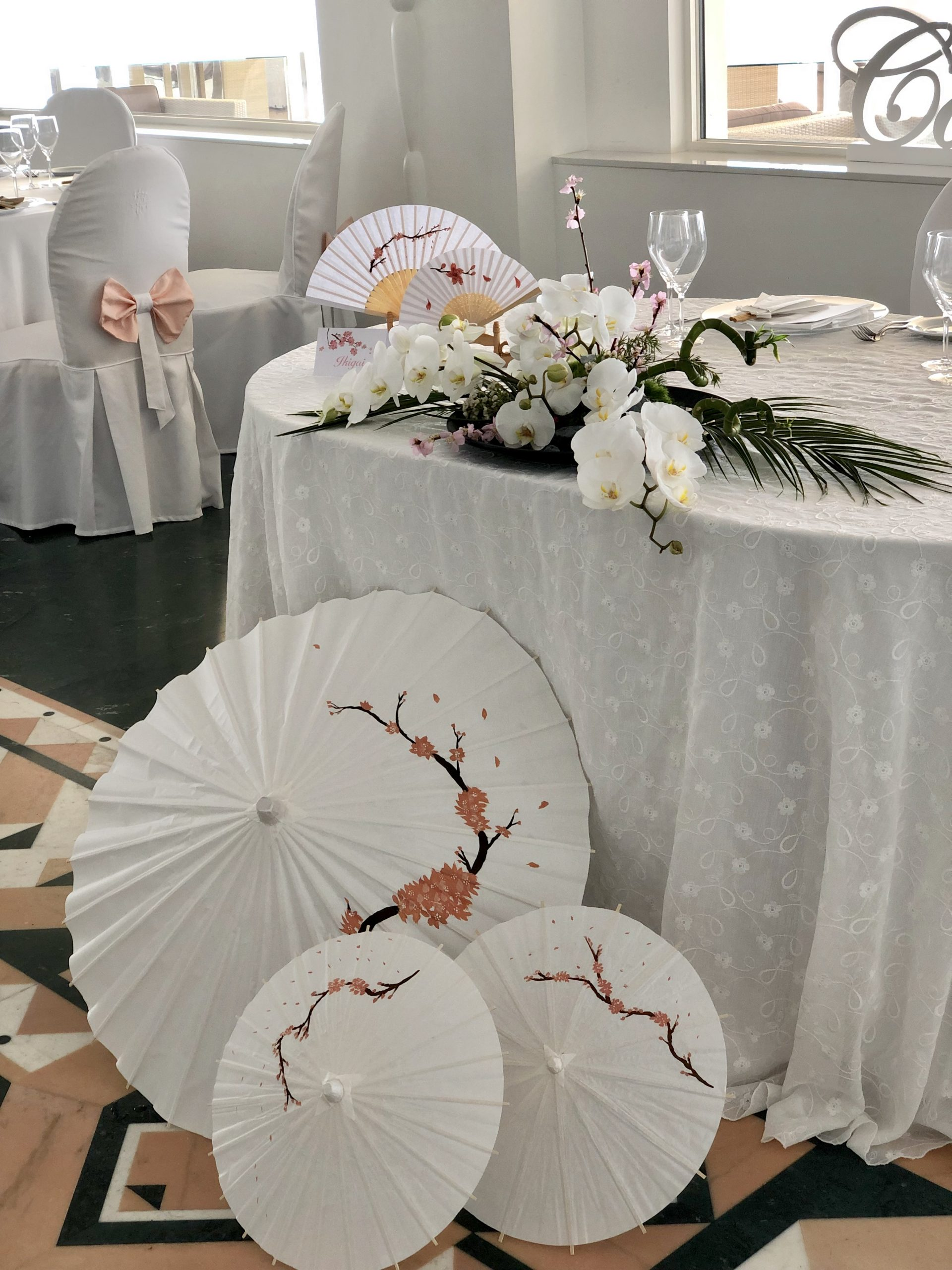 Allestimenti matrimonio Tema Giappone Garofalo Creazioni
