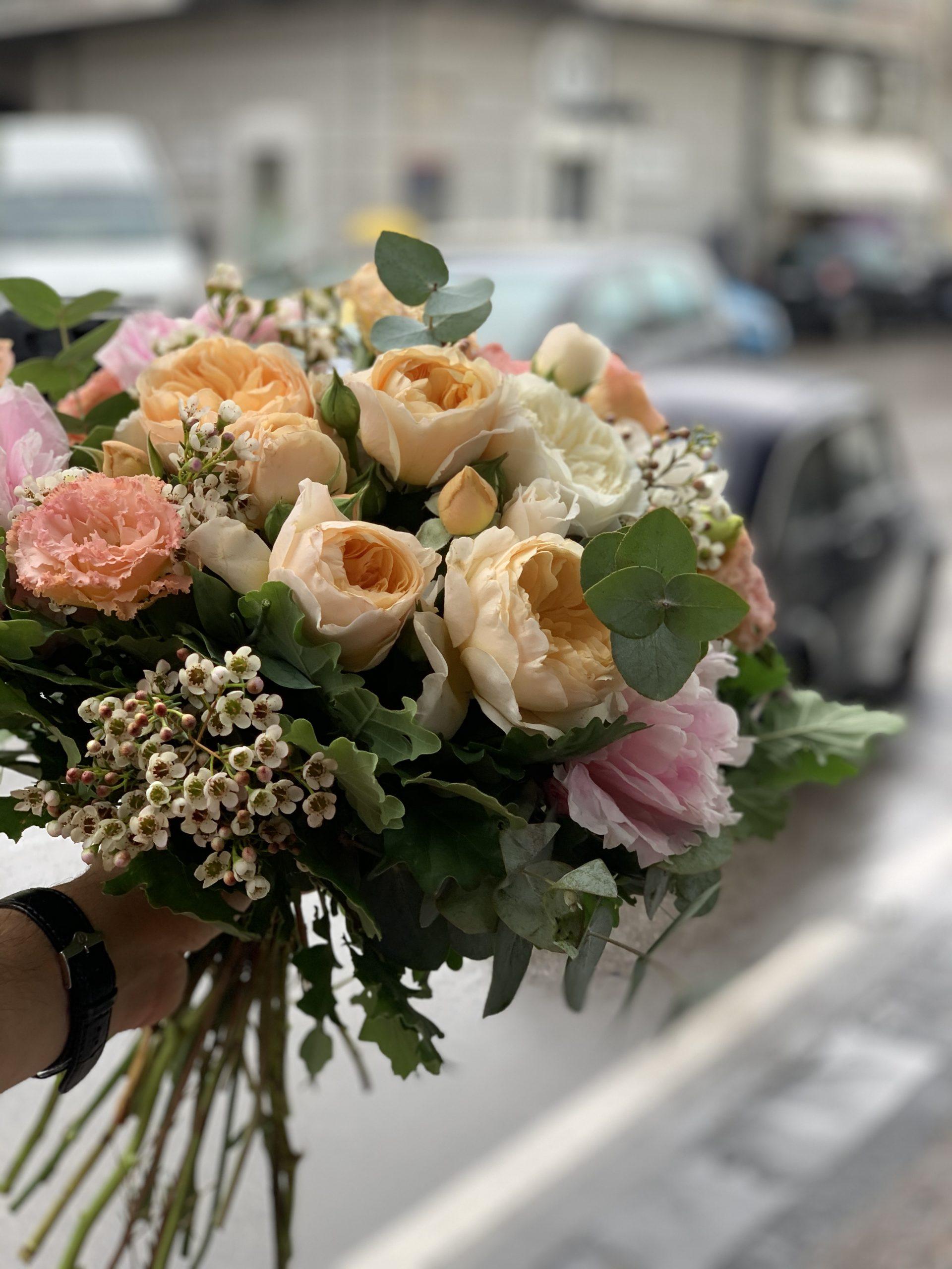Bouquet Regalo Arancio 2 Garofalo Creazioni